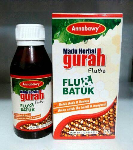 Madu Herbal Gurah Fluba Annabawy (Flu, Batuk dan Gangguan Pernafasan)