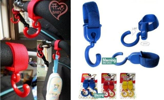 Stroller hanger pack 2in1