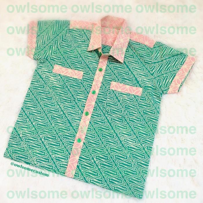 Jual kemeja batik anak  owlsome  Tokopedia