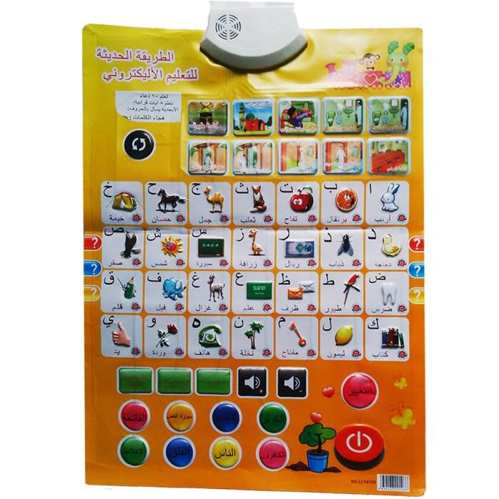 Jual Poster Mainan Edukasi Belajar Membaca Hijaiyah Dengan Audio ... 0faf545226