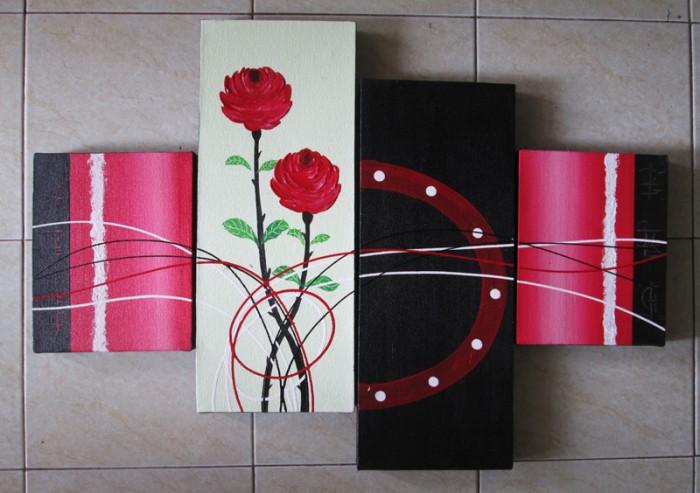 harga Lukisan abstrak mawar minimalis Tokopedia.com
