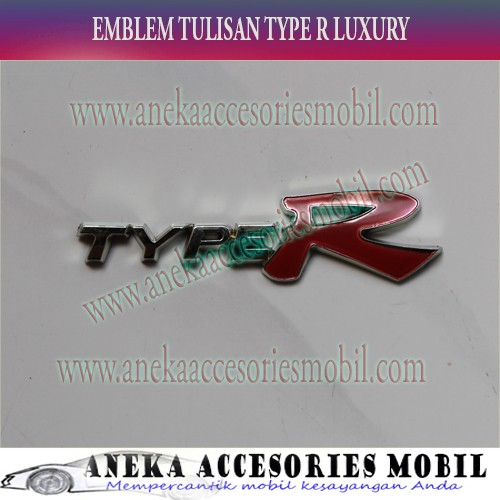 harga Emblem tulisan type r chrome luxury datsun go+ Tokopedia.com