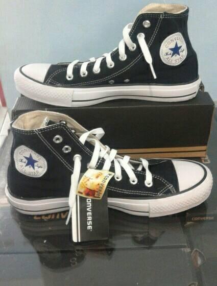 harga Sepatu murah  converse  hitam high +box Tokopedia.com