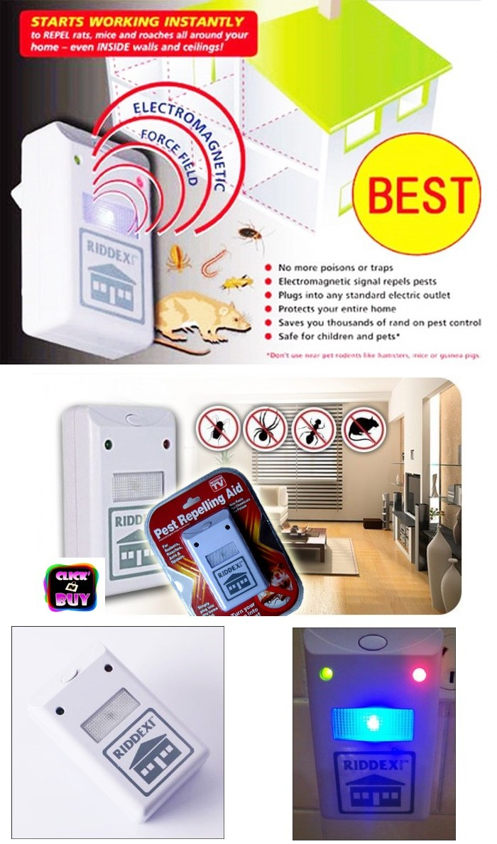 Jual Pest Repelling Aid Riddex Ultrasonic Anti Tikus Nyamuk Kecoa Alat Pengusir Lalat