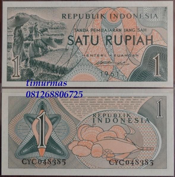 harga Uang kuno 1 rupiah 1961 (sandang pangan) Tokopedia.com