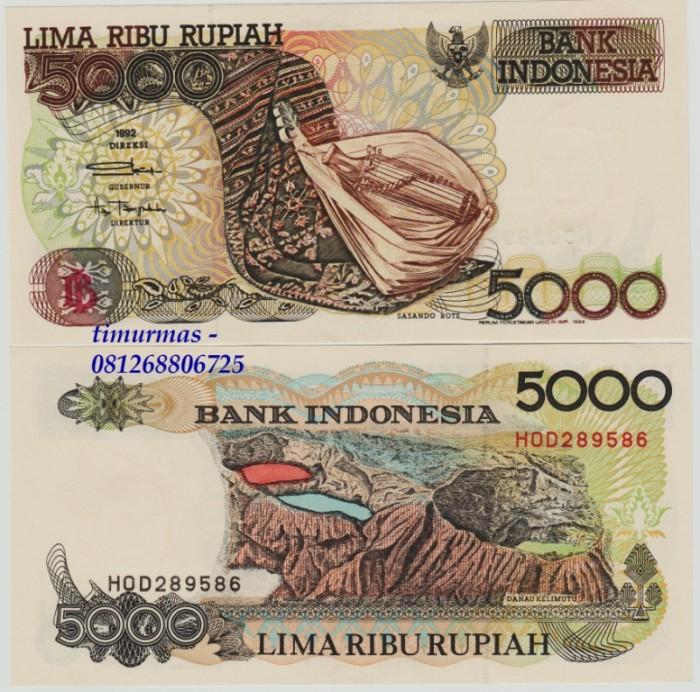 harga Uang lama kuno 5000 rupiah 1992 sasando Tokopedia.com