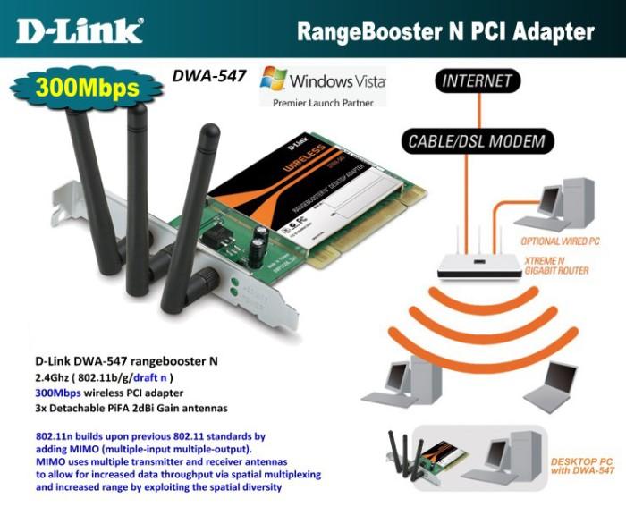 Drivers Update: D-Link DWA-547 Wireless PCI Adapter