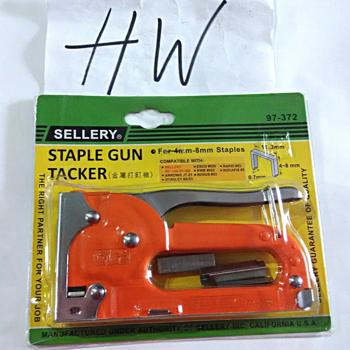 STAPLE GUN TACKER SELLERY