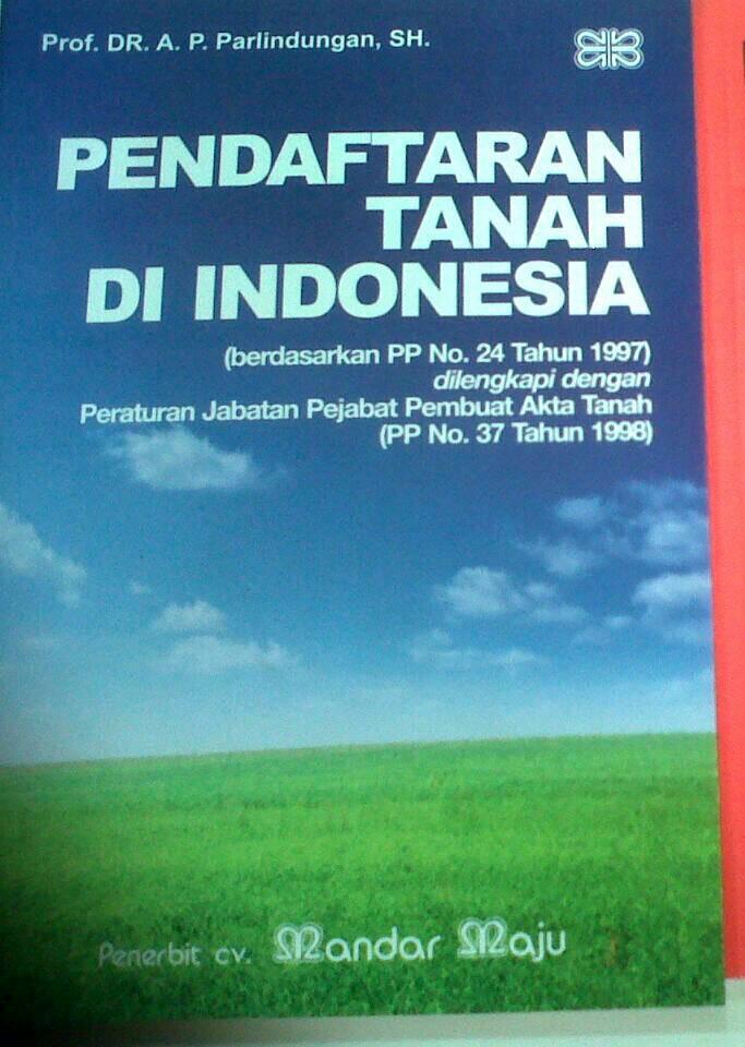 harga Pendaftaran tanah di indonesia parlindungan sh Tokopedia.com