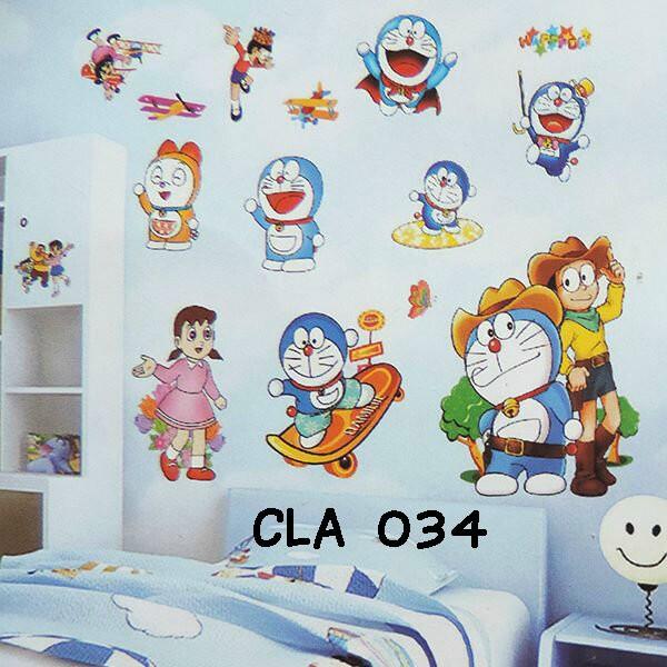 jual wall sticker doraemon 3d (wall stiker dinding) - kota bekasi