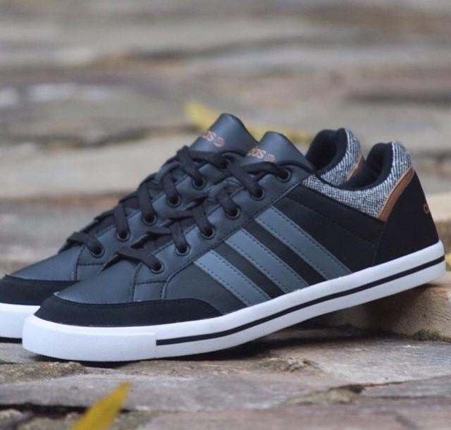02408b79440fd ireland adidas neo se daily vulc low leather men black dark grey white  5f974 61610