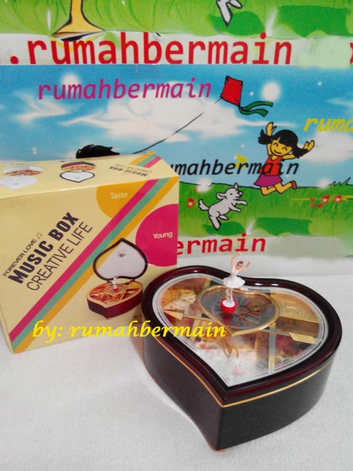 Kotak Musik Love Ballerina - Music Box - Kotak Perhiasan