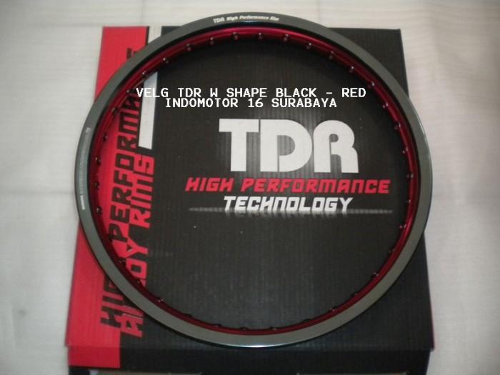 harga Velg tdr w black red 140 - 160 / 17 Tokopedia.com