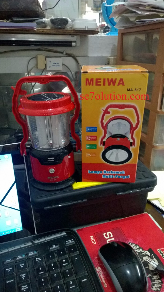 harga Emergency led (senter) + solar ma-617 1w meiwa Tokopedia.com