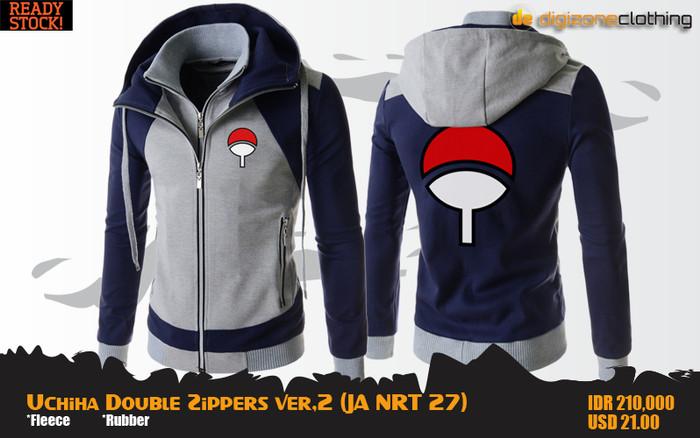 harga Uchiha double zippers hoodie (jaket anime naruto - ja nrt 27) Tokopedia.com
