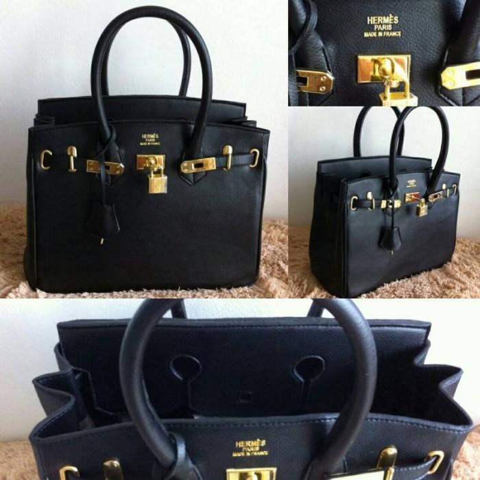 Jual Tas Hermes Birkin Hitam Premium - Ladiescorner  61e62b5bd5