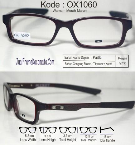 Jual Frame Kacamata Oakley Bucket OX1060 Merah Maroon - Jual Frame ...
