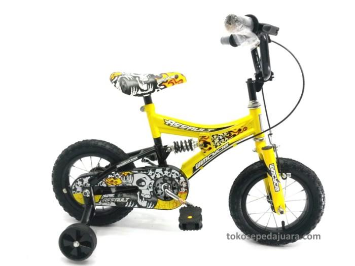 harga Wimcycle bmx 12 assault full w/ suspension kuning (wb12 14k). Tokopedia.com