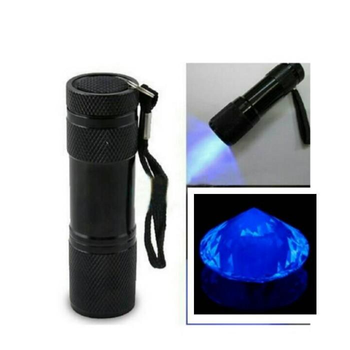 harga Senter uv ultraviolet 9 led utk cek flourescence diamond , uang Tokopedia.com