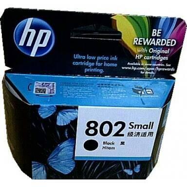 Cartridge Hp 802 Black Original
