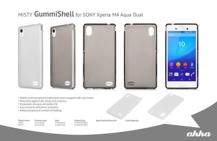 Softcase Ahha Moya Kondom Soft Cover Case Sony Xperia M4 Aqua / Dual