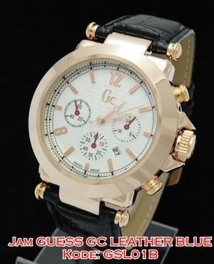 harga Gsl01 b jam tangan guess collection gc leather black kulit gsl01b Tokopedia.com