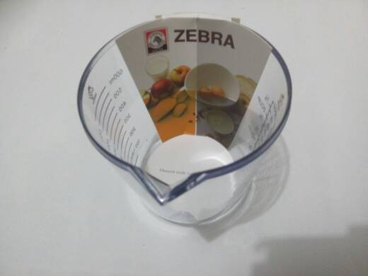 harga Plastic measuring cup 600 ml merk zebra Tokopedia.com