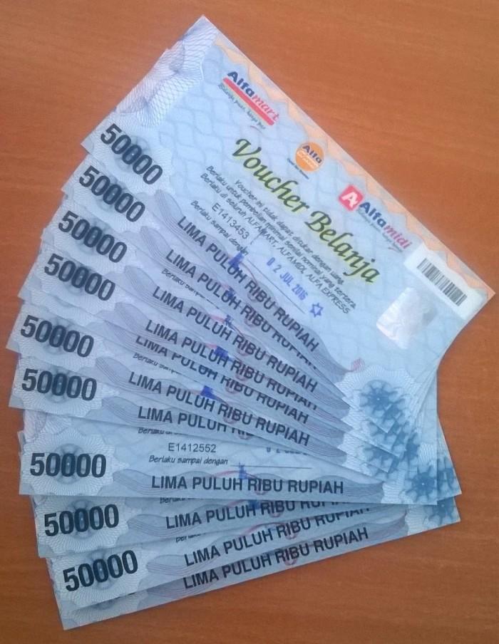 Jual VOUCHER ALFAMART Rp. 50.000 (BELANJA PROMO & MURAH