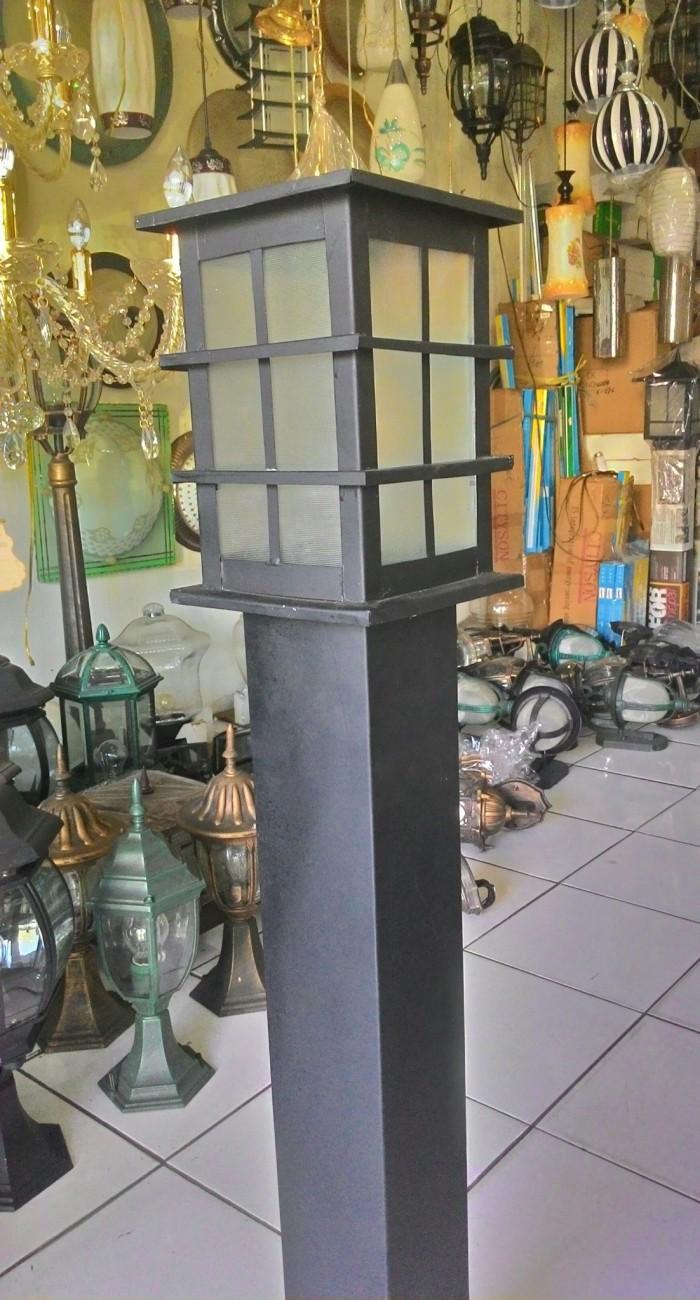 Jual Lampu Taman Minimalis Hitam Kotak Cek Harga Di Pricearea Com