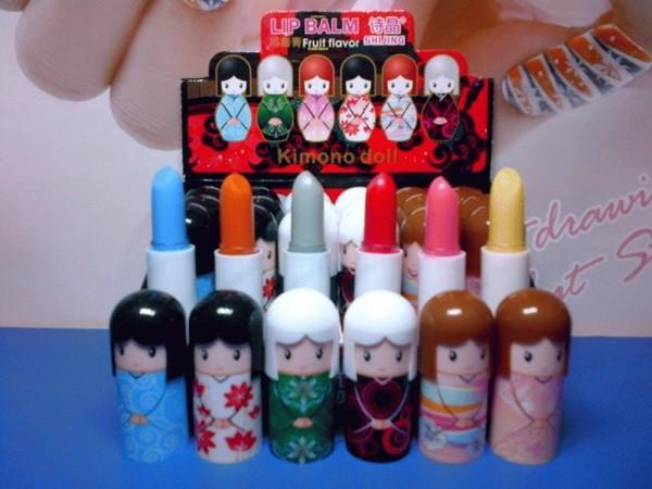 Lip Balm HARAJUKU DOLL Motif Boneka Kimono Jepang| Perbox isi 24 pcs .