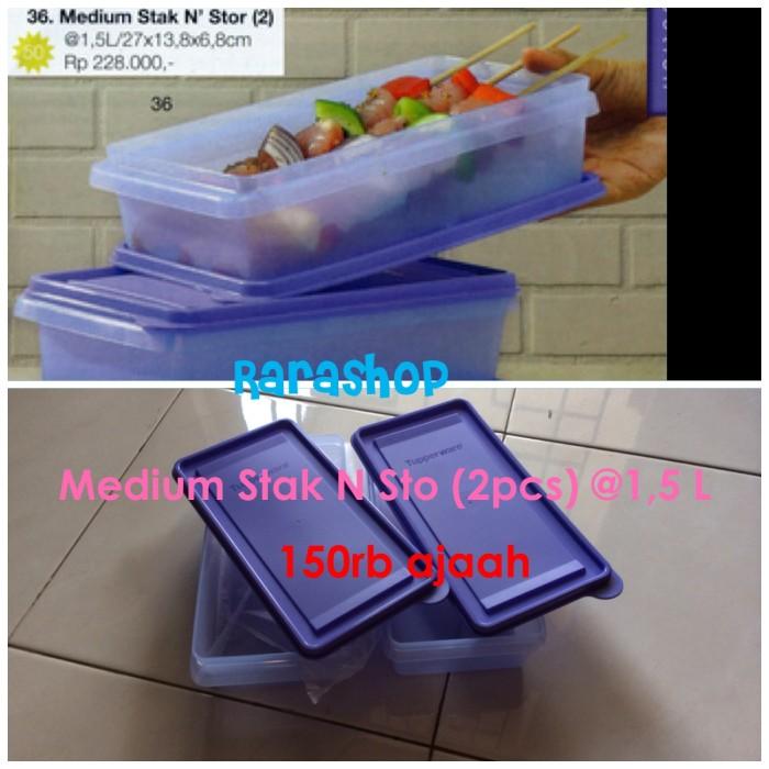 Tupperware Medium Stak N Stor (2 pcs) @1,5L