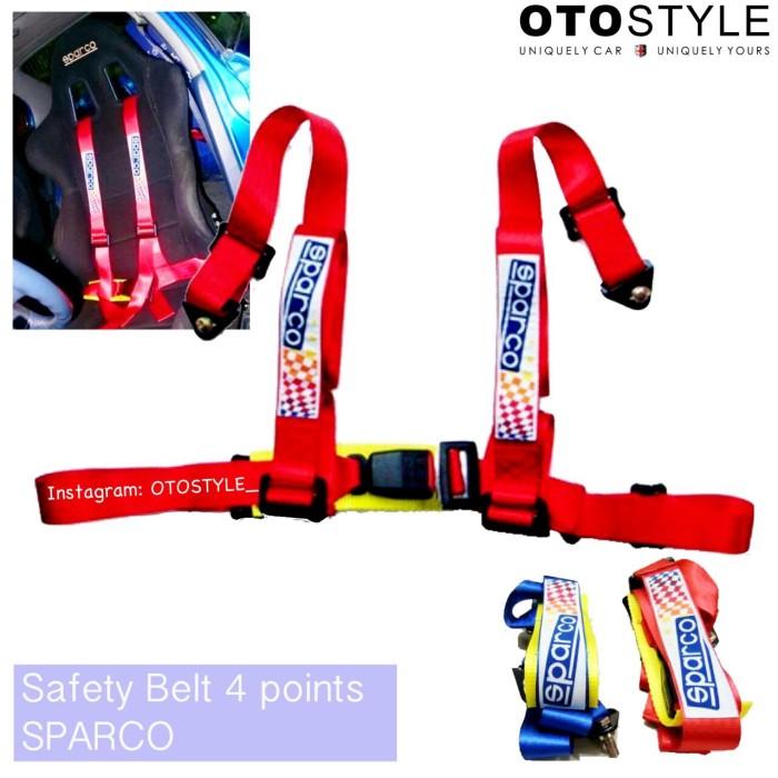 Safety belt sparco / sabuk pengaman 4 titik model racing ...