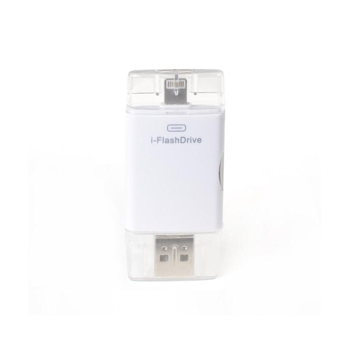 Lexcron iflash photofast drive dual card reader - putih