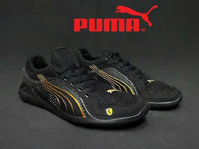 Sepatu Puma Lift Racer Full Black Casual Olahraga Formal Pria Sport
