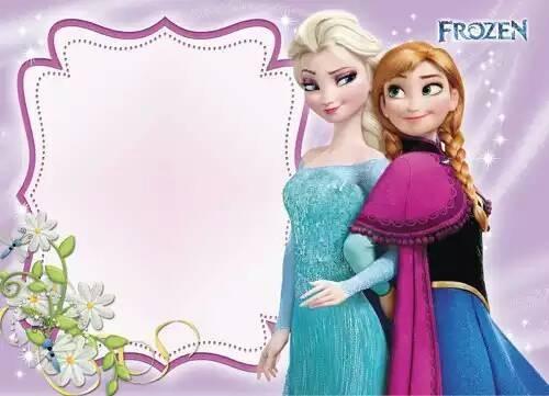 Jual Undangan Ultah Frozen Birthday Invitation Custom Baby
