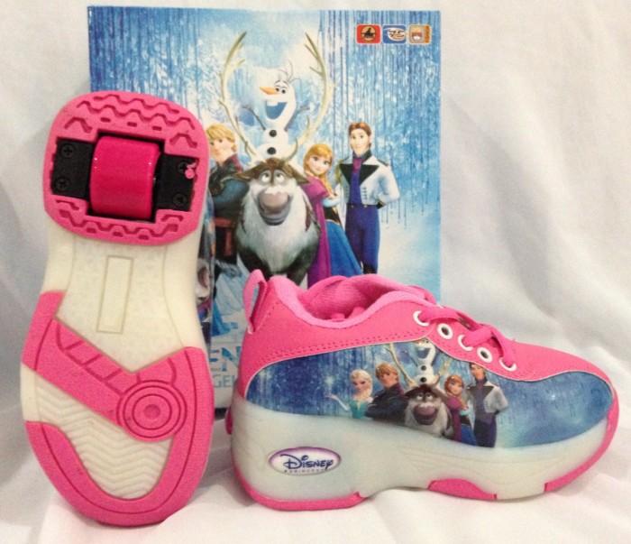 Jual roller shoes sepatu roda anak roda 2 frozen warna biru pink cek ... e9100bd449
