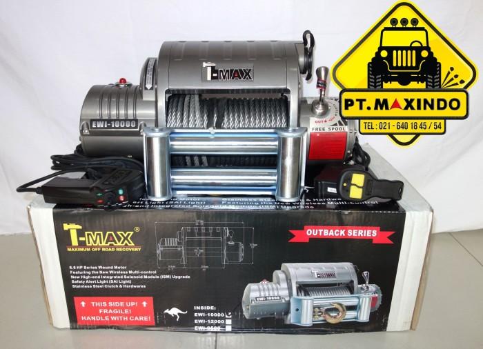 harga T-max dc electric winch ewi-10000 kapasitas 45 ton 12 volt Tokopedia.com