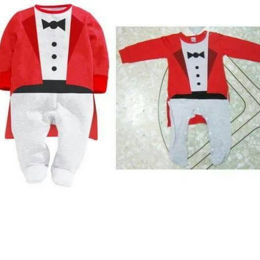 harga Next sleepsuit tuxedo red romper bayi. sz 3 sd 24 bln Tokopedia.com