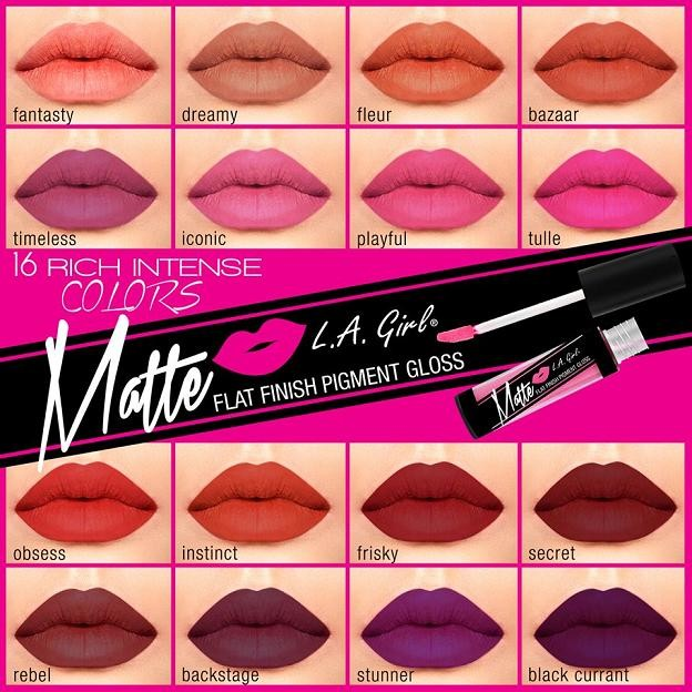 harga La girl matte pigment gloss pigmented lipstick lipgloss liptint balm Tokopedia.com