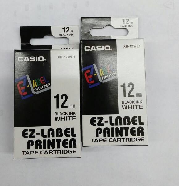 harga Ez-label printer casio 12mm black ink white Tokopedia.com