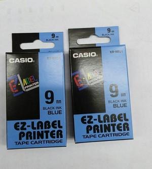 harga Ez-label printer casio 9mm black ink blue Tokopedia.com