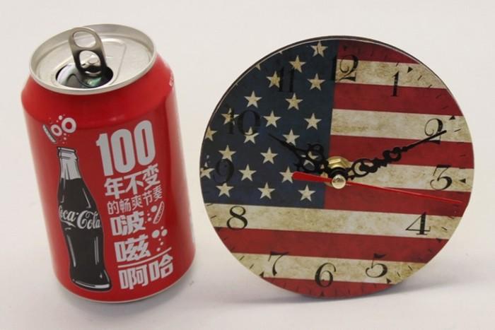 harga Jam meja kayu vintage motif bendera amerika ukuran 12 cm Tokopedia.com