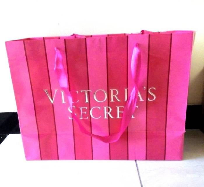 harga Shopping bag  victoria secret  / tas kado kertas/karton / tas belanja Tokopedia.com