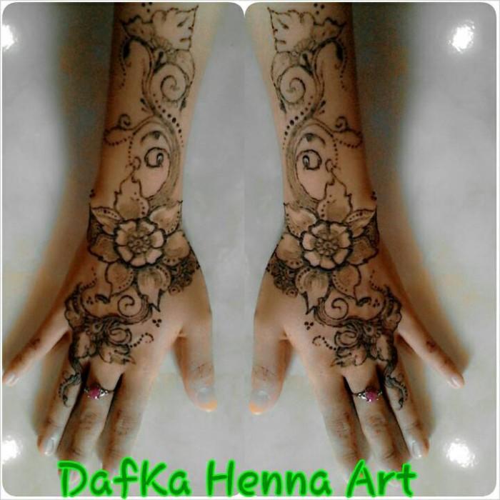 Jual Jasa Lukis Henna Wedding Dafka Henna Mehndi Art Tokopedia