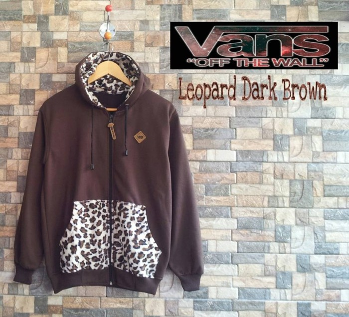 5aac74835dcc Jual Jacket Vans Leopard Dark Brown - RWK_shop Distro | Tokopedia