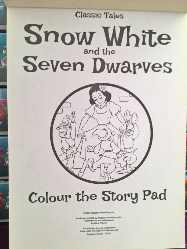 Jual Snow White Colour Story Pad Buku Cerita Bergambar Mewarnai