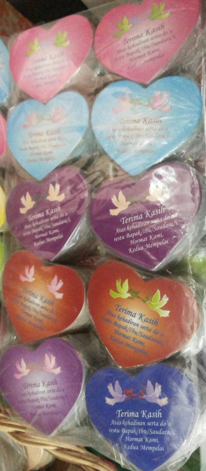 Jual Souvenir Pernikahan Kartu Ucapan Terima Kasih Love Harga Rp 6000