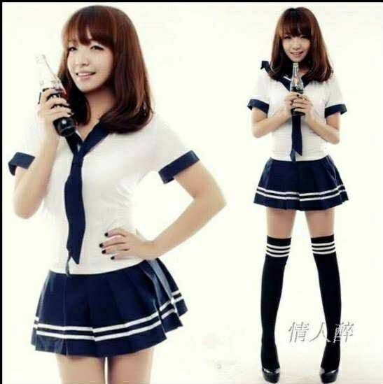 Jual Set Seifuku Costume Seragam Sekolah Jepang Baju Kaos Sailor