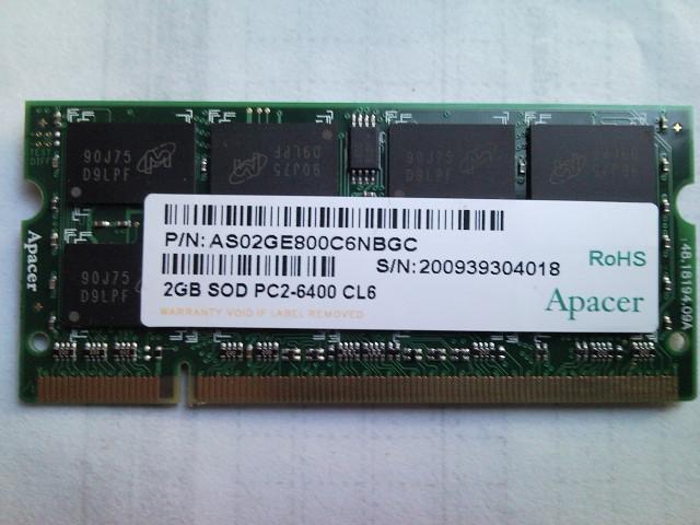 Jual Memory RAM Laptop Sodim Sodimm 2GB DDR2 2 Gb Laptop