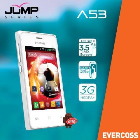 Evercoss a53 jump series - 3g android 3.5  murah - garansi 1 tahun